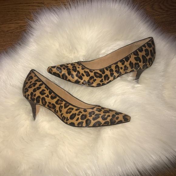 160305ba949a Clarks Indigo calf hair leopard pump heels 6.5 NWT